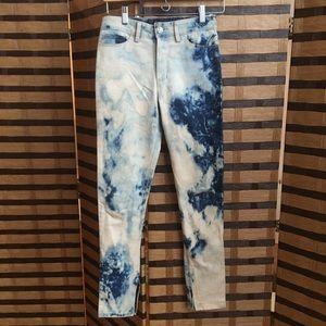 Ksubi women's acid washed straight leg jeans 26
